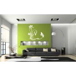 Luční kvetiny s motýlky (60 x 57 cm) -  Samolepka na zeď