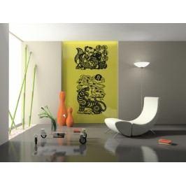 Čínské symboly 2 kusy - Samolepka na zeď