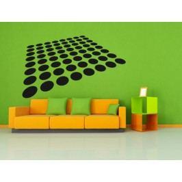 Kruhový 3D čtverec (98 x 59 cm) -  Samolepka na zeď