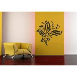 Listový ornament (60 x 59 cm) -  Samolepka na zeď