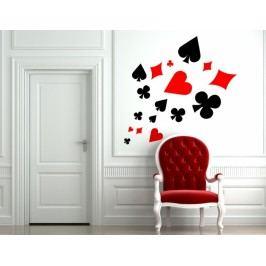 Karetní symboly (98 x 65 cm ) -  Samolepka na zeď