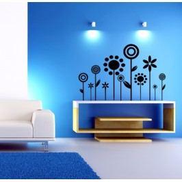 Květiny vaul (98 x 65 cm ) -  Samolepka na zeď
