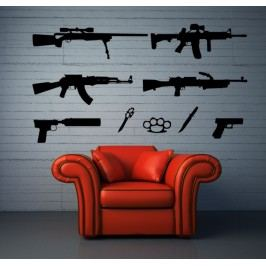 Sada zbraní - Dekorace na zeď