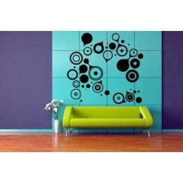 Spojující se kruhy (98 x 104 cm) -  Samolepka na zeď