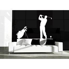 Golfista na odpalu - Samolepka na zeď