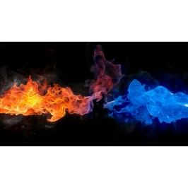 Modrý a rudý plamen (60 x 34 cm) -  Plakát
