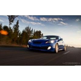 Modré závodní auto (60 x 37 cm) -  Plakát na zeď