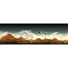 Balóny nad horami (60 x 19 cm) -  Plakát na stěnu