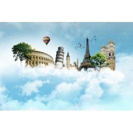 Monumenty v oblacích (60 x 40 cm) -  Plakát na zeď