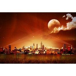 Město s měsícem (60 x 41 cm) -  Plakát na stěnu