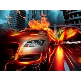 Ohnivé auto (60 x 45 cm) -  Plakát