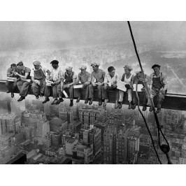 Dělníci na traverze (60 x 46 cm) -  Plakát na zeď