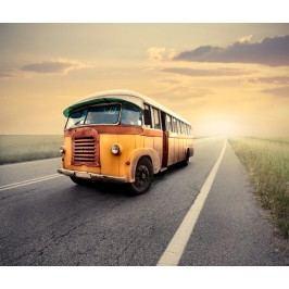 Retro autobus (60 x 50 cm) -  Plakát