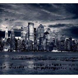 Město v noci 2 (60 x 55 cm) -  Plakát na zeď