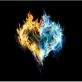 Ohnivé srdce (60 x 59 cm) -  Plakát