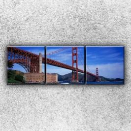 Golden Gate bridge zespodu 2 (75 x 25 cm) -  Třídílný obraz