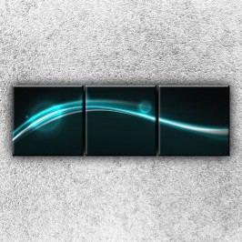 Modrý pruh 2 (75 x 25 cm) -  Třídílný obraz