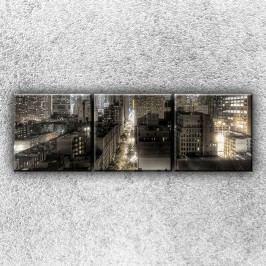 Temné město 3 (75 x 25 cm) -  Třídílný obraz