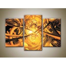 3D abstrakce (75 x 50 cm) -  Třídílný obraz