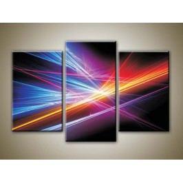 Abstrakce 7 (75 x 50 cm) -  Třídílný obraz