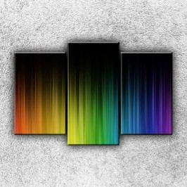 Abstrakce duhy 2 (75 x 50 cm) -  Třídílný obraz