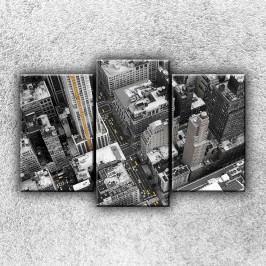 Černobílé město 4 (75 x 50 cm) -  Třídílný obraz