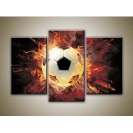 Fotbalový míč (75 x 50 cm) -  Třídílný obraz