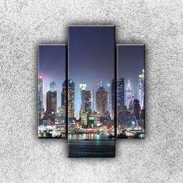 Město světel 2 (70 x 55 cm) -  Třídílný obraz