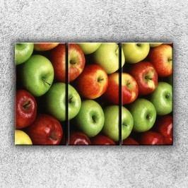 Jablka (90 x 60 cm) -  Třídílný obraz
