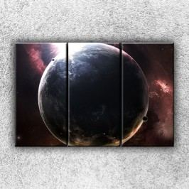 Temná planeta 1 (90 x 60 cm) -  Třídílný obraz