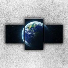 Planeta Země z vesmíru 4 (90 x 50 cm) -  Třídílný obraz