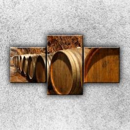 Sudy na víno 2 (90 x 50 cm) -  Třídílný obraz