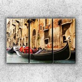 Gondola 2 (120 x 80 cm) -  Třídílný obraz