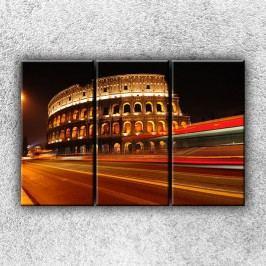 Noční koloseum 4 (120 x 80 cm) -  Třídílný obraz