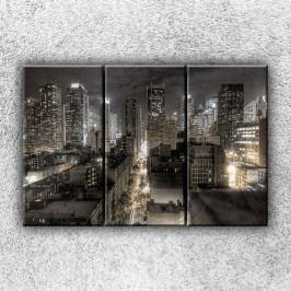 Temné město 4 (120 x 80 cm) -  Třídílný obraz