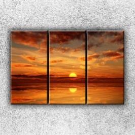Zlaté slunce 1 (120 x 80 cm) -  Třídílný obraz