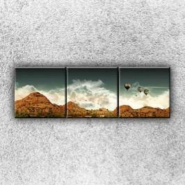 Balónové panorama 4 (120 x 40 cm) -  Třídílný obraz