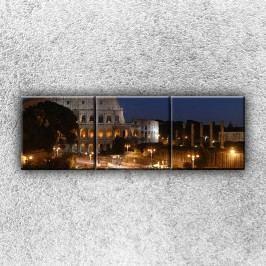 Koloseum v noci (120 x 40 cm) -  Třídílný obraz