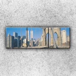 Pěší lávka 4 (120 x 40 cm) -  Třídílný obraz