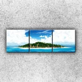 Pohádkový ostrov 2 (120 x 40 cm) -  Třídílný obraz