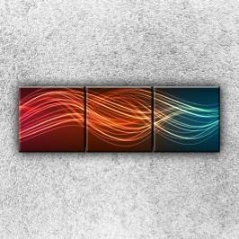 Pruhy barev 2 (120 x 40 cm) -  Třídílný obraz