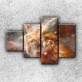 Hvězdná mlhovina (100 x 70 cm) -  Čtyřdílný obraz