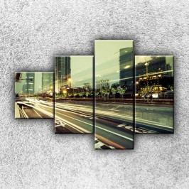 Tepny velkoměsta 4 (100 x 70 cm) -  Čtyřdílný obraz