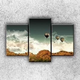 Balónové panorama 3 (105 x 70 cm) -  Třídílný obraz