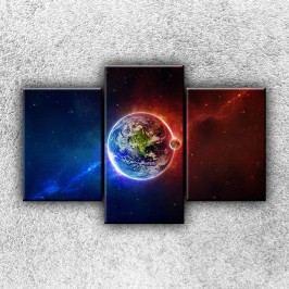 Dva světy 2 (105 x 70 cm) -  Třídílný obraz