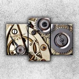 Hodinová kolečka 2 (105 x 70 cm) -  Třídílný obraz