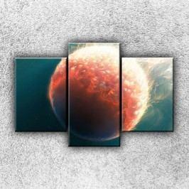 Kometa (105 x 70 cm) -  Třídílný obraz