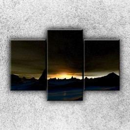 Noční záře (105 x 70 cm) -  Třídílný obraz