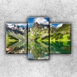 Odraz hor (105 x 70 cm) -  Třídílný obraz