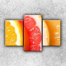 Pomeranč 2 (105 x 70 cm) -  Třídílný obraz
